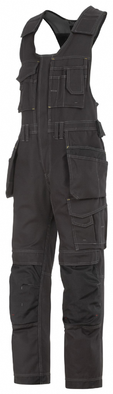 Snickers 0214 Canvas+ Craftsmen One-Piece Holster Pocket Trousers (Black / Black)